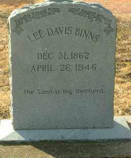 BINNS, LEE DAVIS - Charles City County, Virginia | LEE DAVIS BINNS - Virginia Gravestone Photos