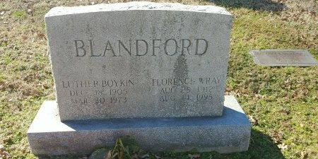 WRAY BLANDFORD, FLORENCE - Charles City County, Virginia | FLORENCE WRAY BLANDFORD - Virginia Gravestone Photos