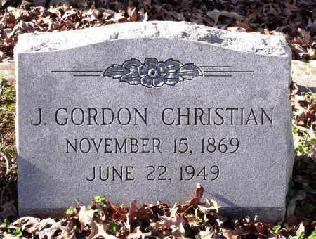 CHRISTIAN, J. GORDON - Charles City County, Virginia   J. GORDON CHRISTIAN - Virginia Gravestone Photos