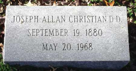 CHRISTIAN, JOSEPH ALLAN - Charles City County, Virginia   JOSEPH ALLAN CHRISTIAN - Virginia Gravestone Photos