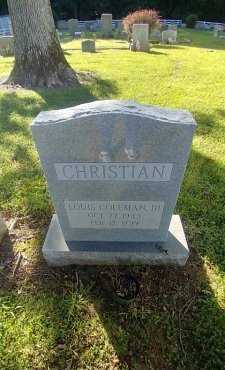 CHRISTIAN JR, LOUIS COLEMAN - Charles City County, Virginia   LOUIS COLEMAN CHRISTIAN JR - Virginia Gravestone Photos