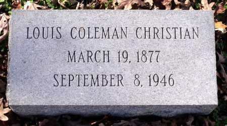 CHRISTIAN, LOUIS COLEMAN - Charles City County, Virginia   LOUIS COLEMAN CHRISTIAN - Virginia Gravestone Photos