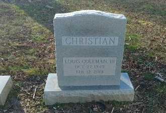 CHRISTIAN, LOUIS COLEMAN, III - Charles City County, Virginia   LOUIS COLEMAN, III CHRISTIAN - Virginia Gravestone Photos