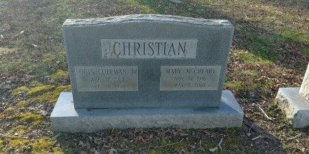MCCREARY CHRISTIAN, MARY - Charles City County, Virginia   MARY MCCREARY CHRISTIAN - Virginia Gravestone Photos