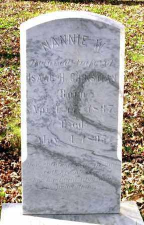 CHRISTIAN, NANNIE W. - Charles City County, Virginia | NANNIE W. CHRISTIAN - Virginia Gravestone Photos