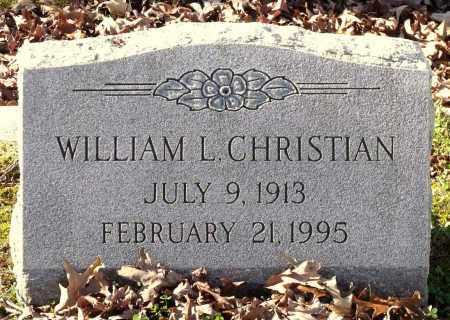 CHRISTIAN, WILLIAM L. - Charles City County, Virginia   WILLIAM L. CHRISTIAN - Virginia Gravestone Photos