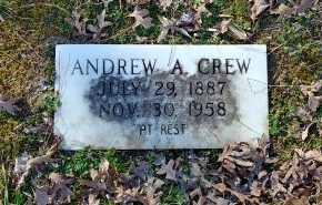 CREW, ANDREW A - Charles City County, Virginia   ANDREW A CREW - Virginia Gravestone Photos