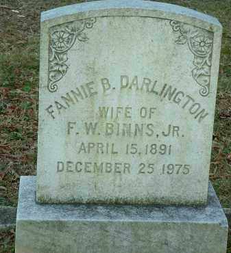 DARLINGTON, FANNIE B. - Charles City County, Virginia   FANNIE B. DARLINGTON - Virginia Gravestone Photos