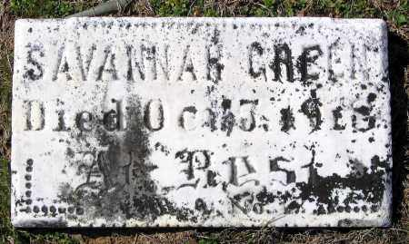 GREEN, SAVANNAH - Charles City County, Virginia   SAVANNAH GREEN - Virginia Gravestone Photos