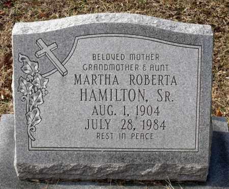 HAMILTON, MARTHA ROBERTA - Charles City County, Virginia   MARTHA ROBERTA HAMILTON - Virginia Gravestone Photos