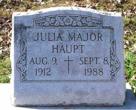 MAJOR HAUPT, JULIA - Charles (City of) County, Virginia | JULIA MAJOR HAUPT - Virginia Gravestone Photos