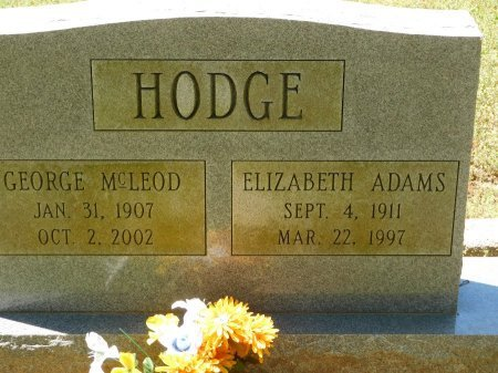 ADAMS HODGE, ELIZABETH - Charles City County, Virginia | ELIZABETH ADAMS HODGE - Virginia Gravestone Photos
