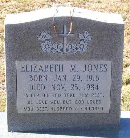 JONES, ELIZABETH M. - Charles (City of) County, Virginia | ELIZABETH M. JONES - Virginia Gravestone Photos