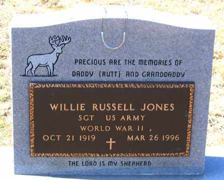JONES, WILLIE RUSSELL - Charles (City of) County, Virginia | WILLIE RUSSELL JONES - Virginia Gravestone Photos