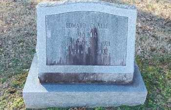 MAJOR, EDWARD CRALLE - Charles City County, Virginia | EDWARD CRALLE MAJOR - Virginia Gravestone Photos