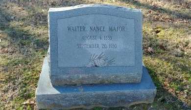 MAJOR, WALTER NANCE - Charles City County, Virginia | WALTER NANCE MAJOR - Virginia Gravestone Photos