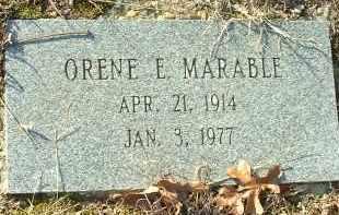 MARABLE, ORENE E. - Charles City County, Virginia   ORENE E. MARABLE - Virginia Gravestone Photos