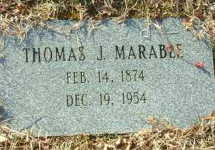 MARABLE, THOMAS J. - Charles City County, Virginia   THOMAS J. MARABLE - Virginia Gravestone Photos