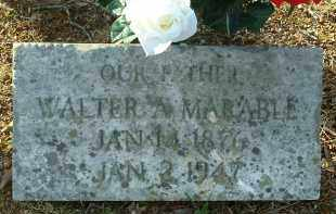 MARABLE, WALTER A. - Charles City County, Virginia   WALTER A. MARABLE - Virginia Gravestone Photos
