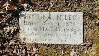 MILES, HATTIE L - Charles City County, Virginia | HATTIE L MILES - Virginia Gravestone Photos