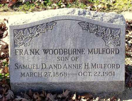 MULFORD, FRANK WOODBURNE - Charles (City of) County, Virginia | FRANK WOODBURNE MULFORD - Virginia Gravestone Photos