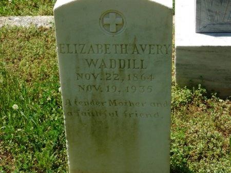WADDILL, ELIZABETH AVERY - Charles City County, Virginia   ELIZABETH AVERY WADDILL - Virginia Gravestone Photos