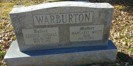 MILES WARBURTON, MARGARET - Charles City County, Virginia | MARGARET MILES WARBURTON - Virginia Gravestone Photos
