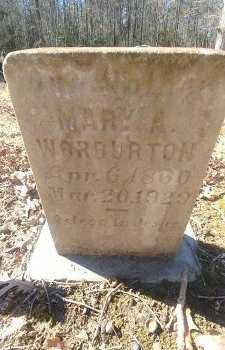 WARBURTON, MARY A - Charles City County, Virginia | MARY A WARBURTON - Virginia Gravestone Photos