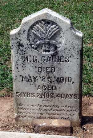 GAINES, M. G. - Charlotte County, Virginia | M. G. GAINES - Virginia Gravestone Photos