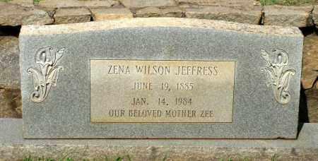 WILSON JEFFRESS, ZENA - Charlotte County, Virginia | ZENA WILSON JEFFRESS - Virginia Gravestone Photos