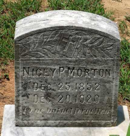 MORTON, NICEY P. - Charlotte County, Virginia | NICEY P. MORTON - Virginia Gravestone Photos