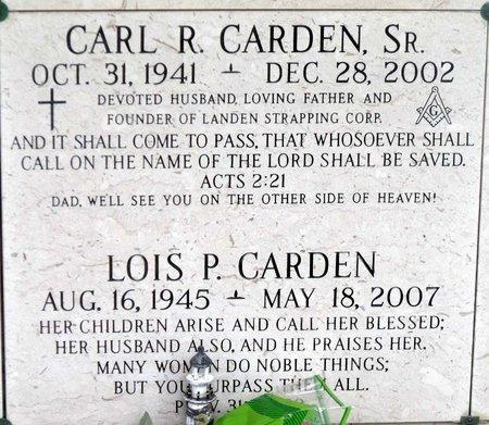 CARDEN, CARL R. SR. - Chesterfield County, Virginia | CARL R. SR. CARDEN - Virginia Gravestone Photos