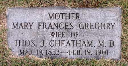 CHEATHAM, MARY FRANCES - Chesterfield County, Virginia | MARY FRANCES CHEATHAM - Virginia Gravestone Photos
