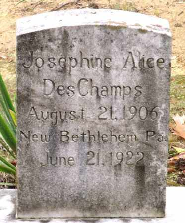 DESCHAMPS, JOSEPHINE ALICE - Chesterfield County, Virginia | JOSEPHINE ALICE DESCHAMPS - Virginia Gravestone Photos