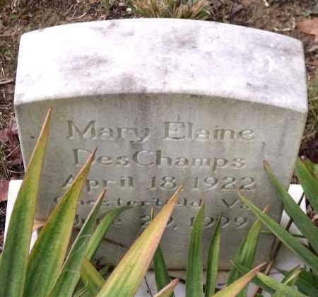 DESCHAMPS, MARY ELAINE - Chesterfield County, Virginia | MARY ELAINE DESCHAMPS - Virginia Gravestone Photos