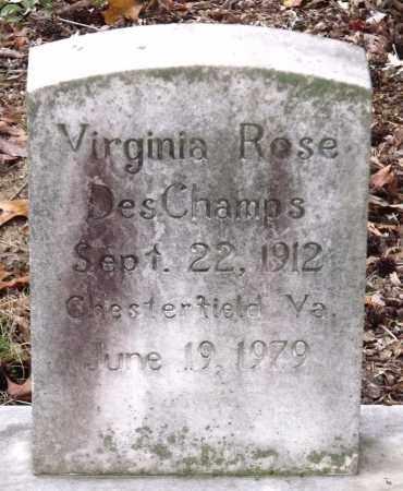 DESCHAMPS, VIRGINIA ROSE - Chesterfield County, Virginia | VIRGINIA ROSE DESCHAMPS - Virginia Gravestone Photos