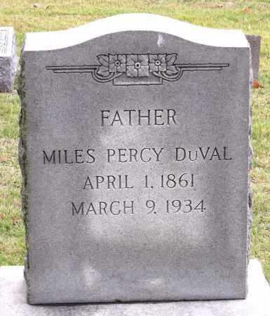DUVAL, MILES PERCY - Chesterfield County, Virginia | MILES PERCY DUVAL - Virginia Gravestone Photos