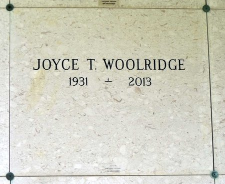WOOLRIDGE, JOYCE T. - Chesterfield County, Virginia | JOYCE T. WOOLRIDGE - Virginia Gravestone Photos
