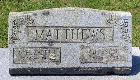 MATTHEWS, MARY ELIZABETH - Craig County, Virginia | MARY ELIZABETH MATTHEWS - Virginia Gravestone Photos