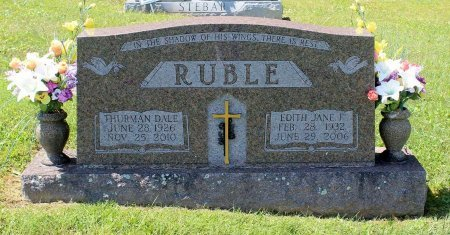 RUBLE, EDITH JANE F. - Craig County, Virginia | EDITH JANE F. RUBLE - Virginia Gravestone Photos