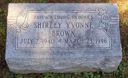 BROWN, SHIRLEY YVONNE - Culpeper County, Virginia | SHIRLEY YVONNE BROWN - Virginia Gravestone Photos
