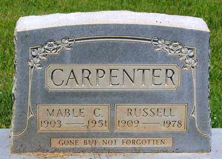 CARPENTER, RUSSELL - Culpeper County, Virginia | RUSSELL CARPENTER - Virginia Gravestone Photos
