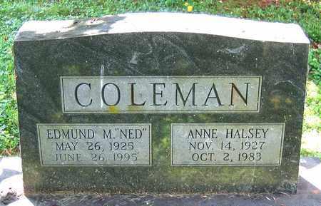 COLEMAN, EDMUND M. - Culpeper County, Virginia | EDMUND M. COLEMAN - Virginia Gravestone Photos