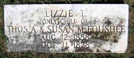FOUSHEE, LIZZIE T. - Culpeper County, Virginia | LIZZIE T. FOUSHEE - Virginia Gravestone Photos