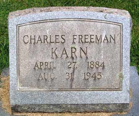 KARN, CHARLES FREEMAN - Culpeper County, Virginia | CHARLES FREEMAN KARN - Virginia Gravestone Photos