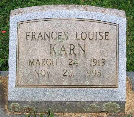 KARN, FRANCES LOUISE - Culpeper County, Virginia | FRANCES LOUISE KARN - Virginia Gravestone Photos