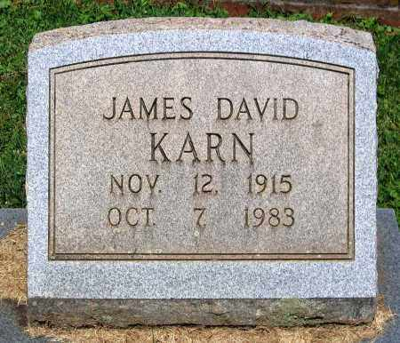 KARN, JAMES DAVID - Culpeper County, Virginia | JAMES DAVID KARN - Virginia Gravestone Photos