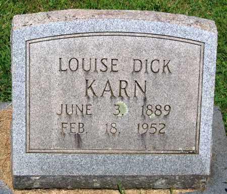 KARN, LOUISE - Culpeper County, Virginia | LOUISE KARN - Virginia Gravestone Photos