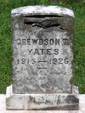 YATES, CREWDSON T. - Culpeper County, Virginia | CREWDSON T. YATES - Virginia Gravestone Photos