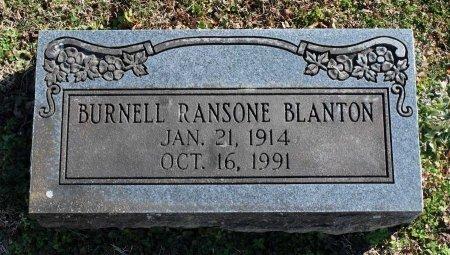BLANTON, BURNELL RANSONE - Cumberland County, Virginia   BURNELL RANSONE BLANTON - Virginia Gravestone Photos
